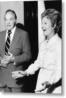 1973 Us Presidency.  Bob Hope And First Metal Print by Everett