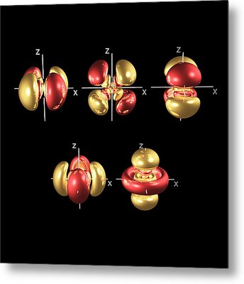 5d Electron Orbitals Metal Print by Dr Mark J. Winter
