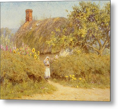 A Surrey Cottage Metal Print by Helen Allingham