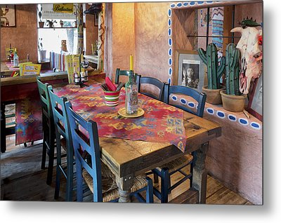 A Tex Mex Restaurant In The Town Metal Print by Jaak Nilson