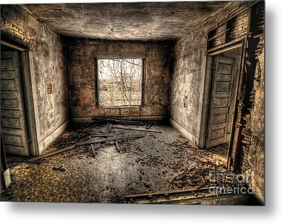Abandoned Metal Print by Miguel Celis