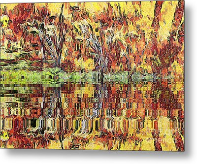 Abstract Artwork Metal Print by Odon Czintos