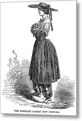 Amelia Bloomer (1818-1894) Metal Print by Granger