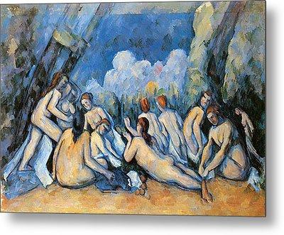 Bathers Metal Print by Paul Cezanne