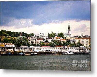Belgrade Cityscape On Danube Metal Print by Elena Elisseeva