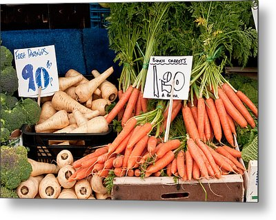 Carrots Metal Print by Tom Gowanlock
