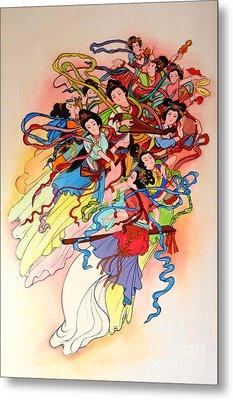 Chinese Painting  Metal Print by Phalakon Jaisangat