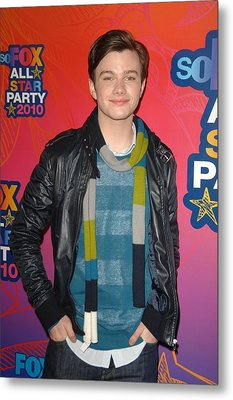 Chris Colfer At Arrivals For Fox Metal Print by Everett