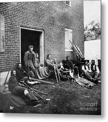 Civil War: Wounded, 1864 Metal Print by Granger