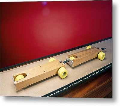 Collision Experiment Metal Print by Andrew Lambert Photography
