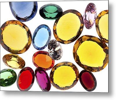Colorful Gems Metal Print by Setsiri Silapasuwanchai