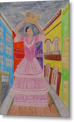 Dancer In Viejo San Juan Metal Print by Jessica Cruz