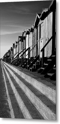 Frinton On Sea Beach Huts Metal Print by Darren Burroughs