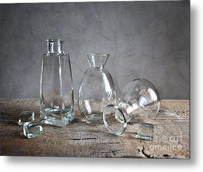 Glass Metal Print by Nailia Schwarz