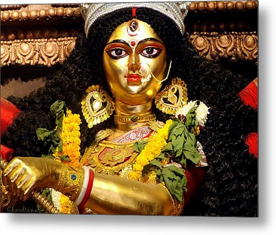 Goddess Durga Metal Print by Chandrima Dhar