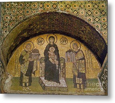Hagia Sophia: Mosaic Metal Print by Granger