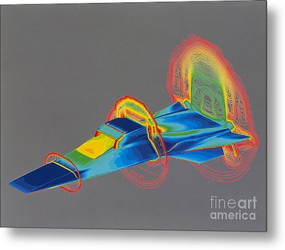 Hyperx Hypersonic Aircraft Metal Print by Science Source