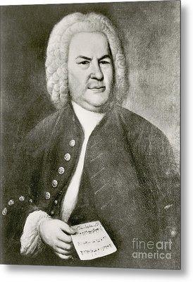 Johann Sebastian Bach, German Baroque Metal Print by Photo Researchers