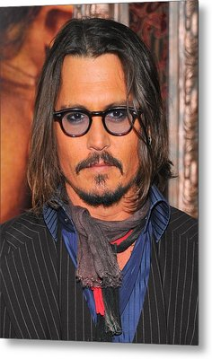 Johnny Depp At Arrivals For The Tourist Metal Print by Everett
