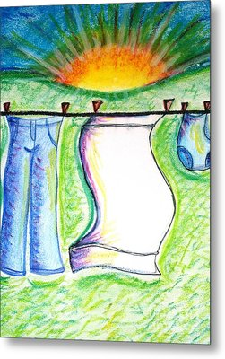 Laundry Day Metal Print by Susan George