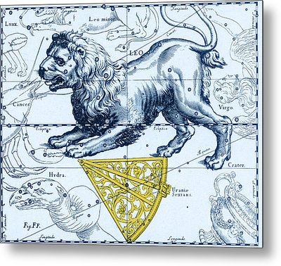 Leo, The Hevelius Firmamentum, 1690 Metal Print by Science Source