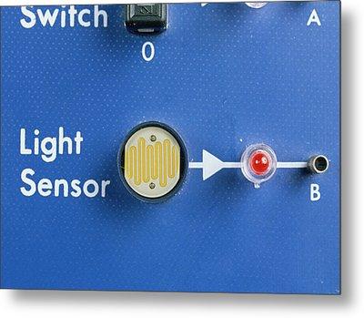 Light Dependent Resistor Metal Print by Andrew Lambert Photography