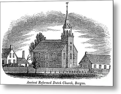 New Jersey: Church, 1844 Metal Print by Granger