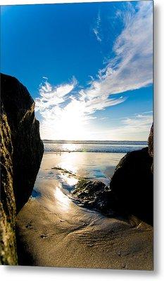 Ocean Beach Metal Print by Mickey Clausen