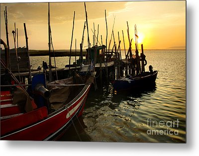 Palaffite Port Metal Print by Carlos Caetano