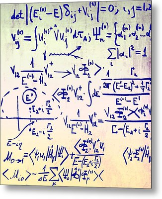 Particle Physics Equations Metal Print by Ria Novosti