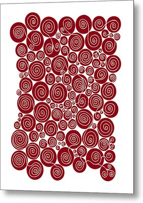 Red Abstract Metal Print by Frank Tschakert