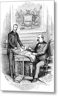 Roosevelt Cartoon, 1884 Metal Print by Granger