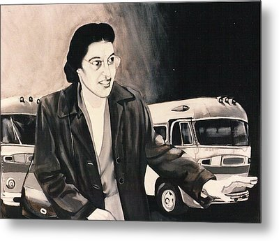 Rosa Parks Metal Print by Howard Stroman