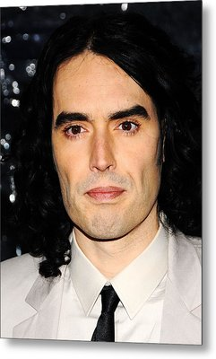 Russell Brand At Arrivals For Arthur Metal Print by Everett