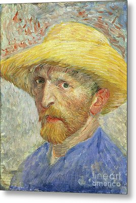 Self Portrait Metal Print by Vincent van Gogh
