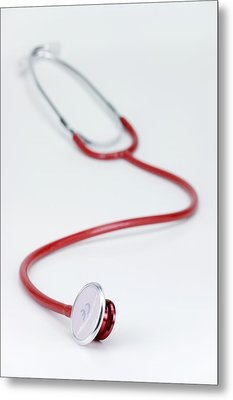 Stethoscope Metal Print by Paul Rapson