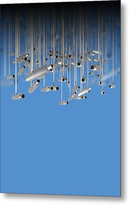 Surveillance, Conceptual Image Metal Print by Victor Habbick Visions