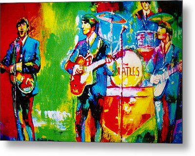 The Beatles Metal Print by Leland Castro