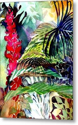 Tropical Waterfall Metal Print by Mindy Newman