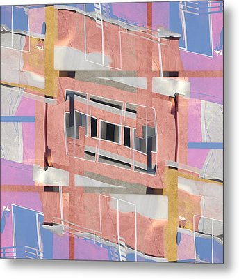 Urban Abstract San Diego Metal Print by Carol Leigh