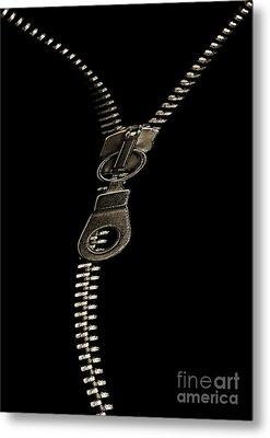 Zip Metal Print by Odon Czintos