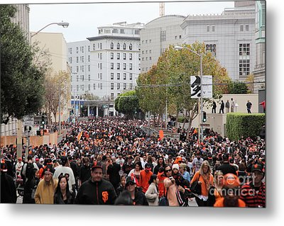 2012 San Francisco Giants World Series Champions Parade Crowd - Dpp0001 Metal Print by Wingsdomain Art and Photography