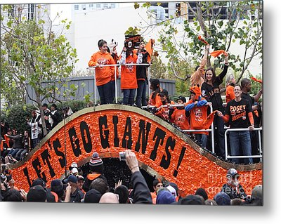 2012 San Francisco Giants World Series Champions Parade - Dpp0004 Metal Print by Wingsdomain Art and Photography