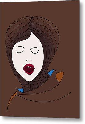 A Woman Metal Print by Frank Tschakert
