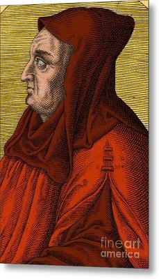 Albertus Magnus, Medieval Philosopher Metal Print by Science Source