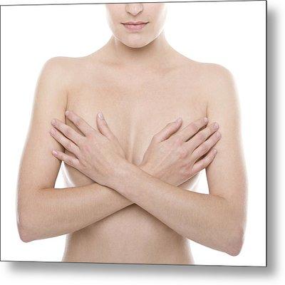 Breast Self-examination Metal Print by