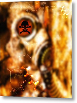 Chemical Warfare Metal Print by Mehau Kulyk