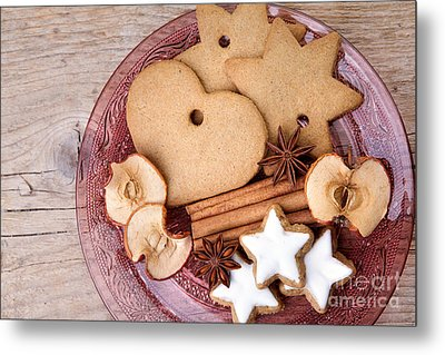 Christmas Gingerbread Metal Print by Nailia Schwarz