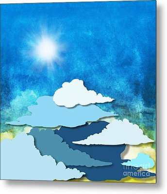 Cloud And Sky Metal Print by Setsiri Silapasuwanchai