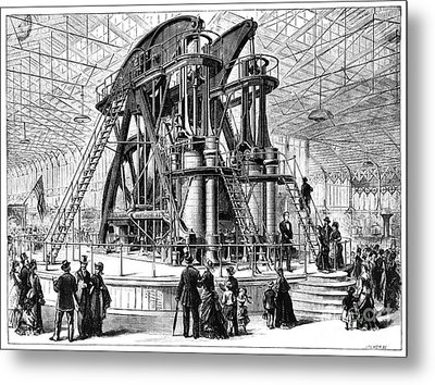 Corliss Steam Engine, 1876 Metal Print by Granger